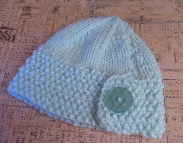 Baby button hat 1