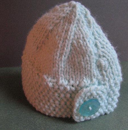 Baby button hat 2