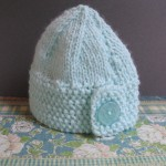 Baby button hat 3