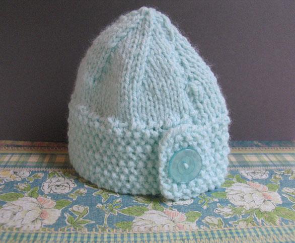 Baby button hat 3