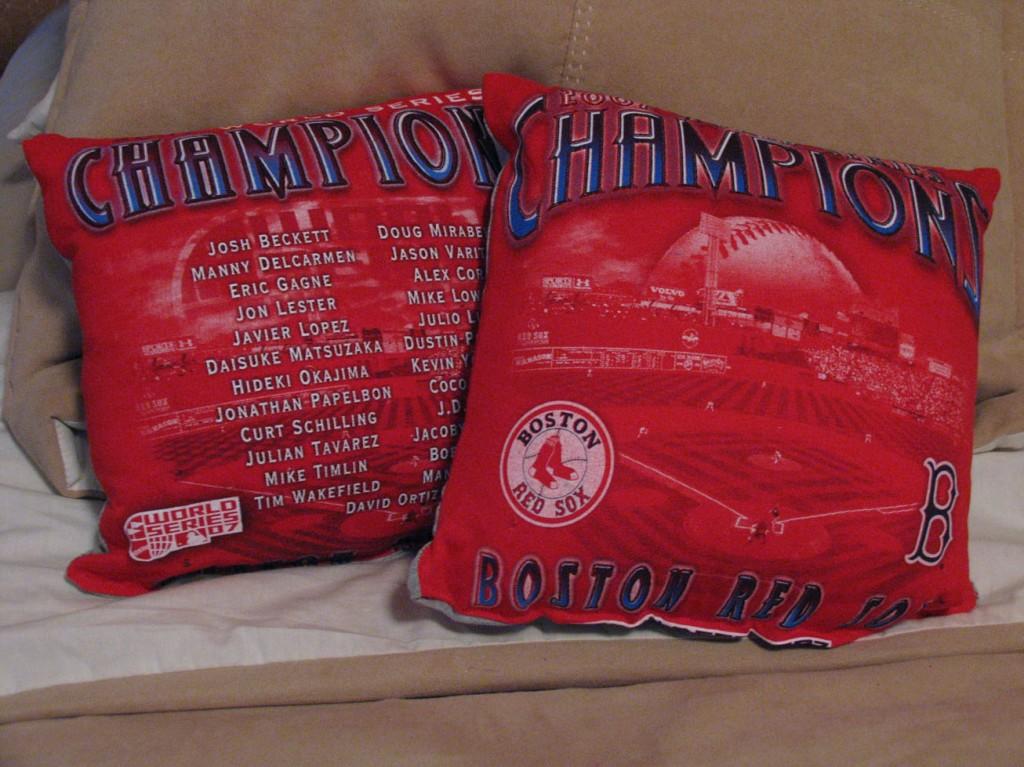 Martin's Redsox Pillows 2