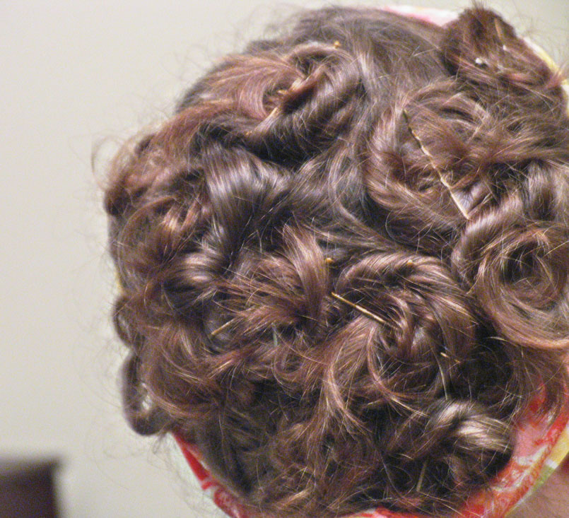 Pin curl updo 2