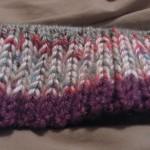Purple Rib Hat 2