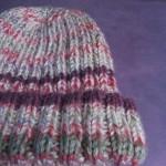 Purple Rib Hat 3