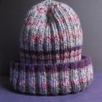 Purple Rib Hat 4