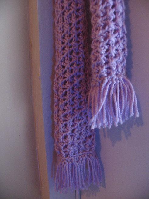 Purple lace scarf 1