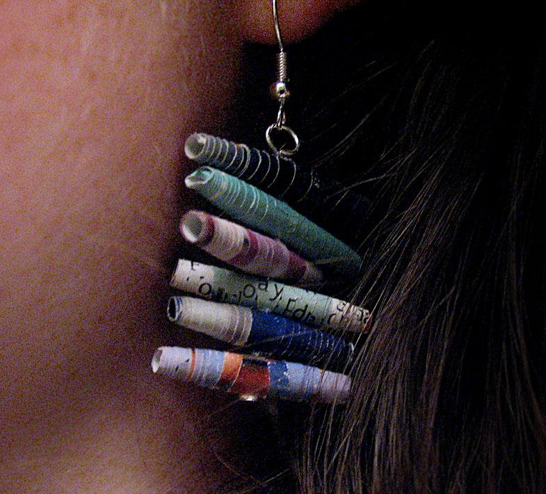 Stacked Magazine Bead Earrings (4)