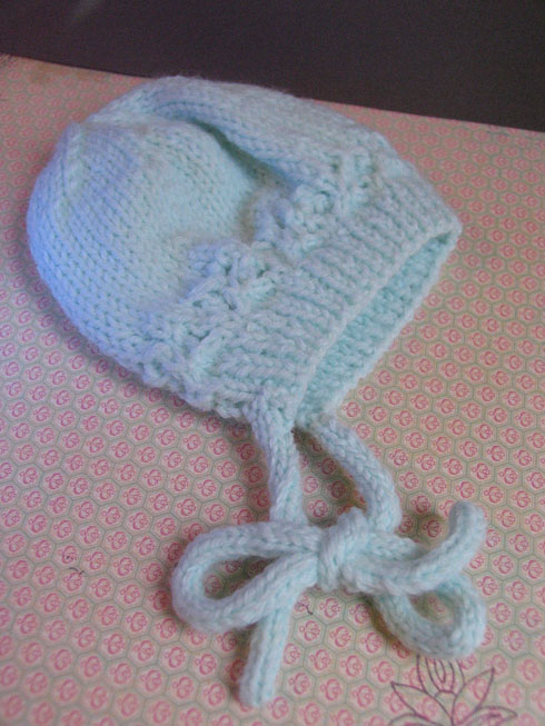 Teal Baby bonnet 4