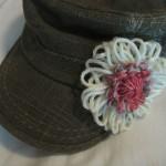 Yarn flower on hat